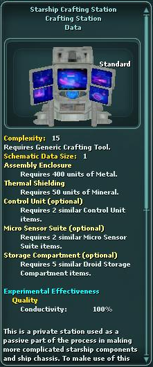 Starship Crafting Station