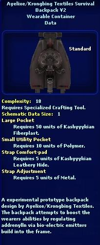 Ayelixe/Krongbing Textiles Survival Backpack V2 (Schematic)