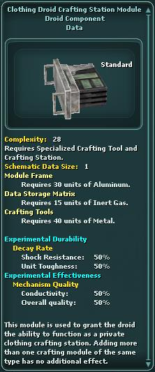 Module - Crafting Station - Clothing