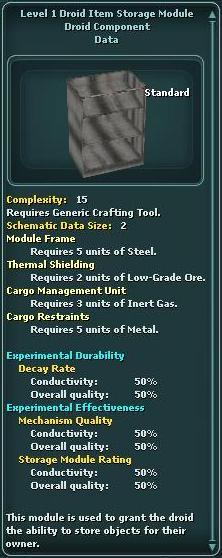Module - Droid Item Storage 1