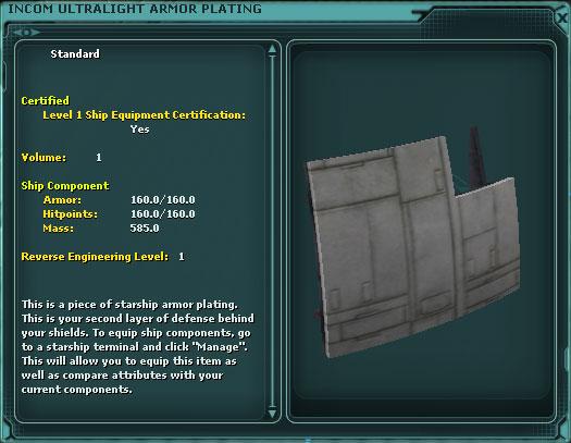 Incom Ultralight Armor Plating