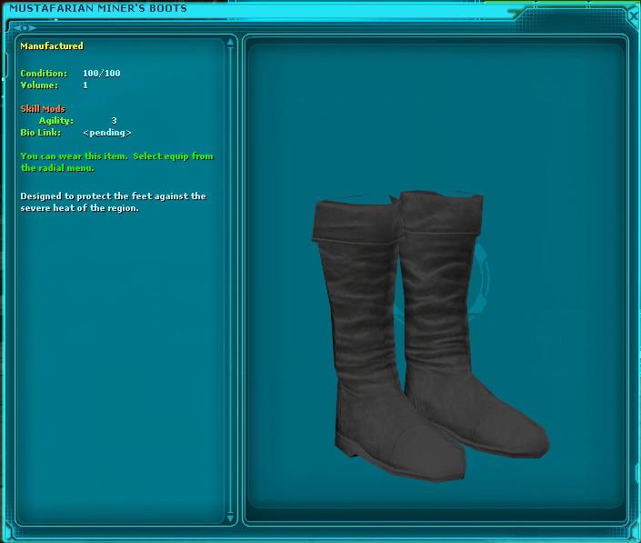 Mustafarian Miner's Boots