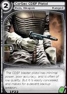 CorSec CDEF Pistol (card)