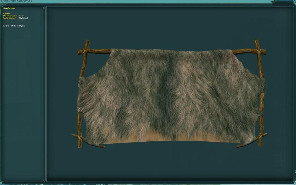 Animal Hide Rack Style 2 Schematic