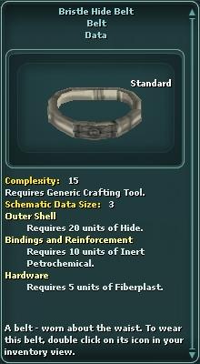 Bristle Hide Belt