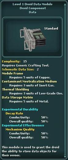 Module - Droid Data 1