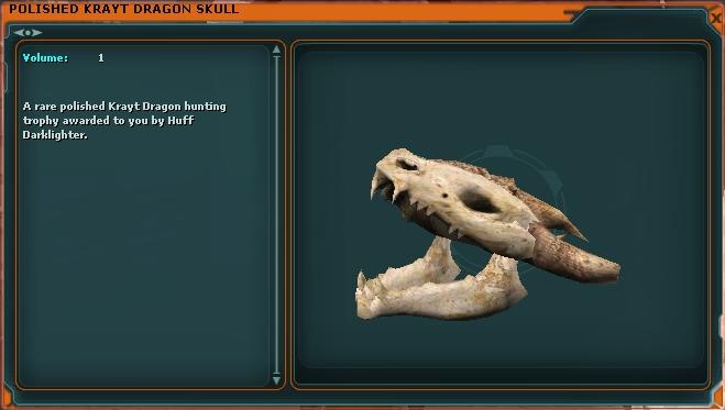 Polished Krayt Dragon Skull