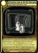 Princess Leia & R2-D2 Diorama (card)