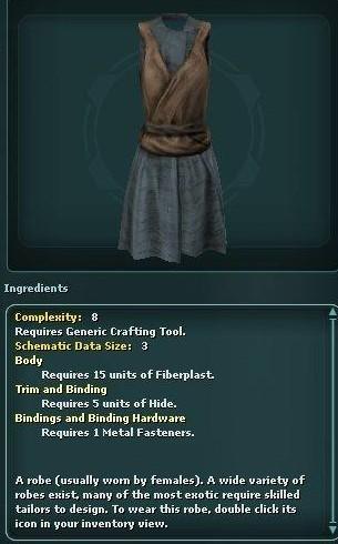 Plain Short Robe (Schematic)