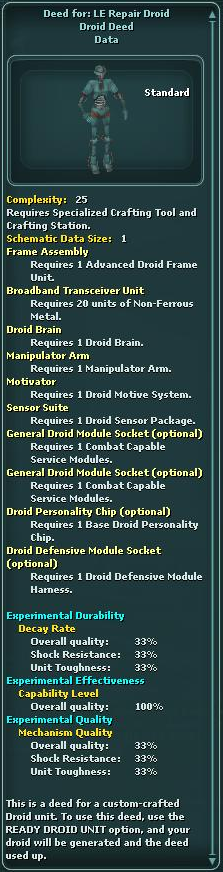 Deed for: LE Repair Droid