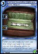Second Generation Lightsaber (card)