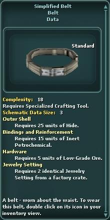Simplified Belt
