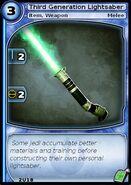 Third Generation Lightsaber (card)