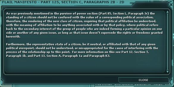 Flail Manifesto - Part 125, Section C, Paragraphs 2B - 2D