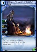 Singing Mountain Arch Witch (card)