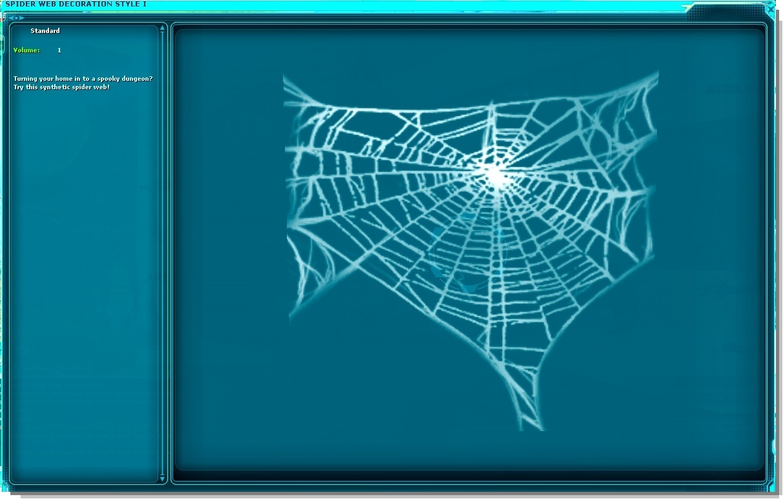 Spider Web Decoration Style I