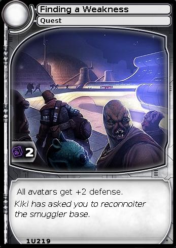 Finding a Weakness (card)