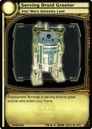 Serving Droid Greeter (card)