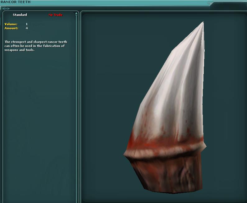 Rancor Teeth