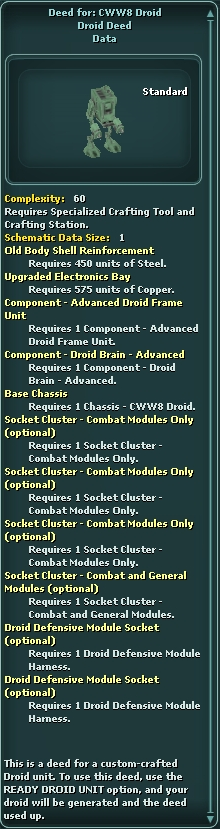 Deed for: CWW8 Droid