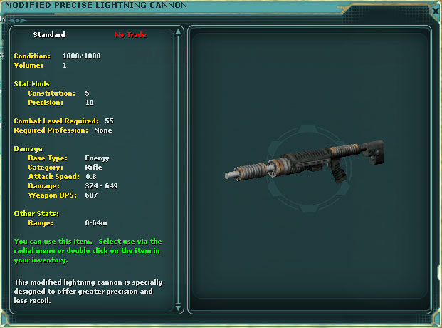 Modified Precise Lightning Cannon