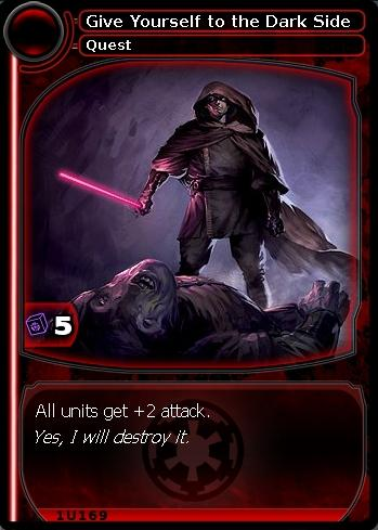 Give Yourself to the Dark Side (card)