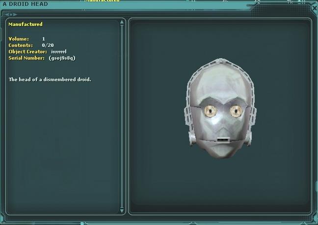 A Droid Head