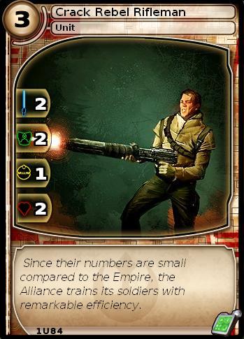 Crack Rebel Rifleman (card)