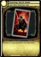 Painting - Darth Vader (card)