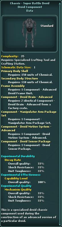 Chassis - Super Battle Droid