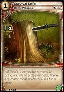 Survival Knife (card)