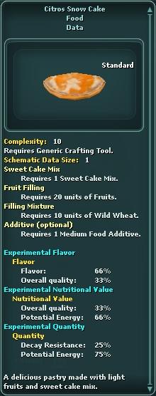 Citros Snow Cake