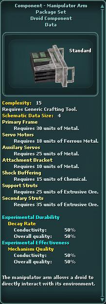 Component - Manipulator Arm Package Set
