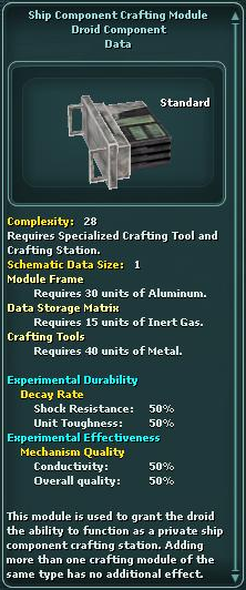 Module - Crafting Station - Ship Components