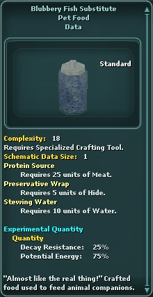 Blubbery Fish Substitute