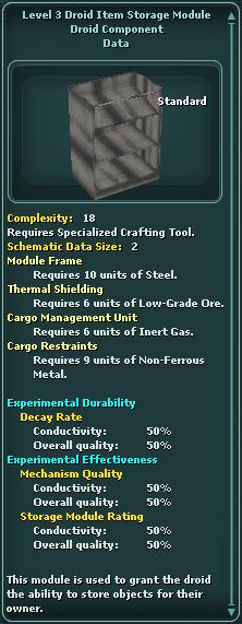 Module - Droid Item Storage 3