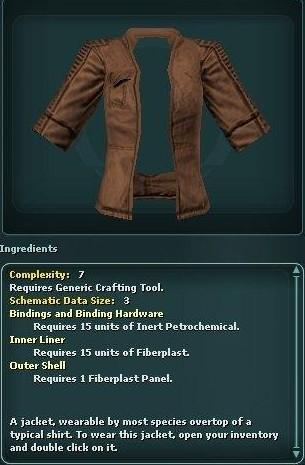 Shortsleeve Jacket (Schematic)