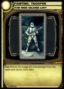 Painting - Trooper (card)