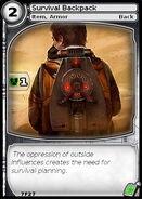 Survival Backpack (card)