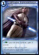 Lightsaber Experimentation (card)