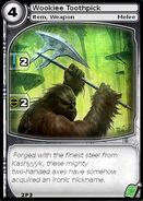 Wookiee Toothpick (card)