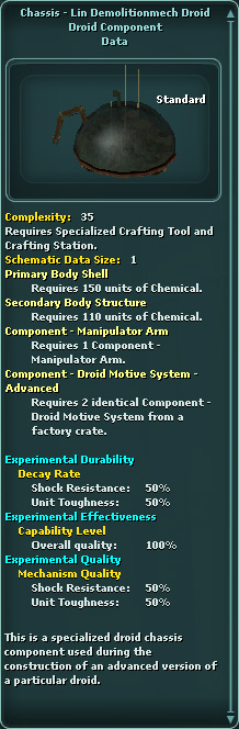 Chassis - LIN Demolitionmech Droid
