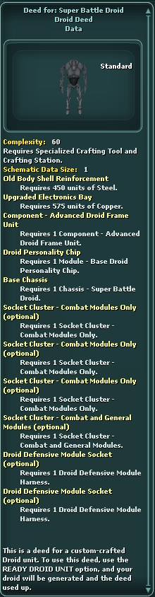 Deed for: Super Battle Droid