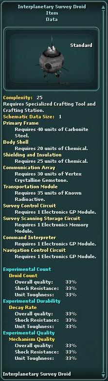 Interplanetary Survey Droid (Schematic)
