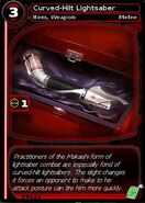 Curved-Hilt Lightsaber (card)