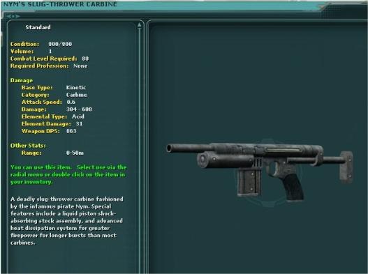 Nym's Slugthrower Carbine