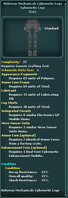 Holowan Mechanicals Cybernetic Legs
