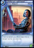 Padawan Lightsaber (card)