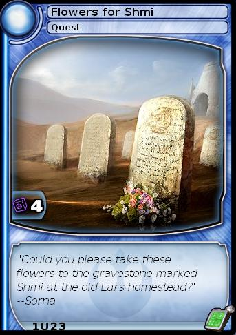 Flowers For Shmi (card)