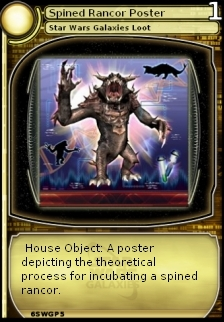 Spined Rancor Poster